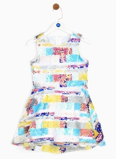 Tyess Tyess B&G Renkli Kız Çocuk Elbise Renkli